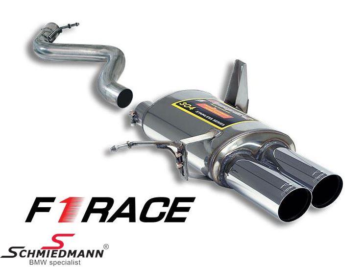 Sportsbagpotte Supersprint -F1 Race Lightweight- med 2XØ80MM afgange H.-side
