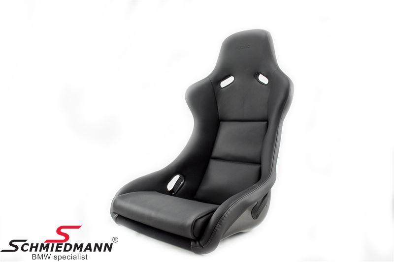 Sportsæde Recaro -Pole Position- (super letvægt/carbon) sort læder/carbon passer i H.- eller V.-side