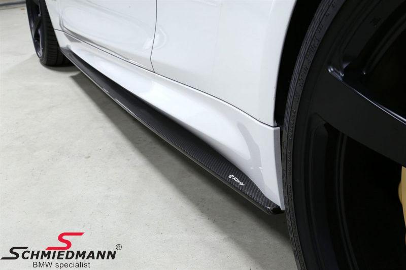 Sideskørte-extention-sæt carbon original -3D Design-, monteres under de originale sideskørter
