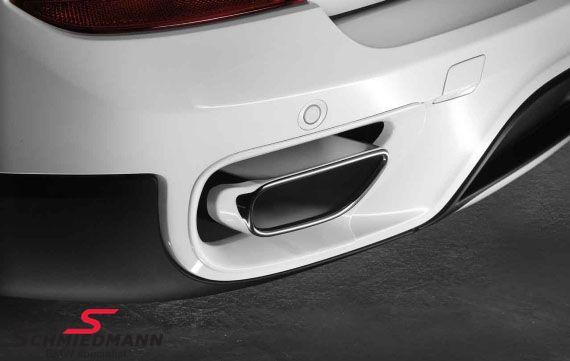 Rørhale sæt krom i V8 optik original BMW (Bemærk venligst, du skal også bruge kofanger-indsatser 51-12-2-167-733 til eftermonteringen)