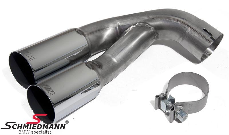BMW M-Performance rørhale - passer til alle BMW hækskørter/kofangere, standard kofangeren skal dog også have blende 51-12-2-297-464 monteret