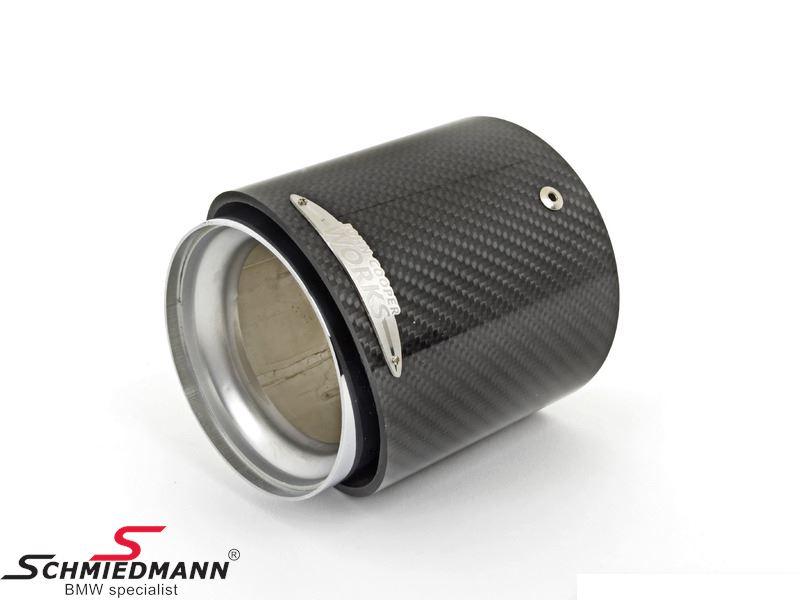 Rørhale carbon til JCW tuning kit - original MINI