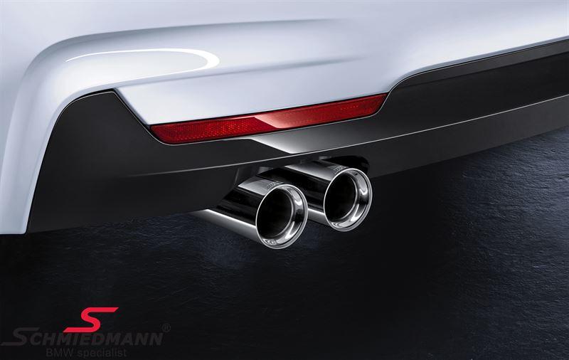 Rørhale krom til 'Active Sound' Udstødningssystem original BMW -///M-Performance- (Sælges pr. stk.)