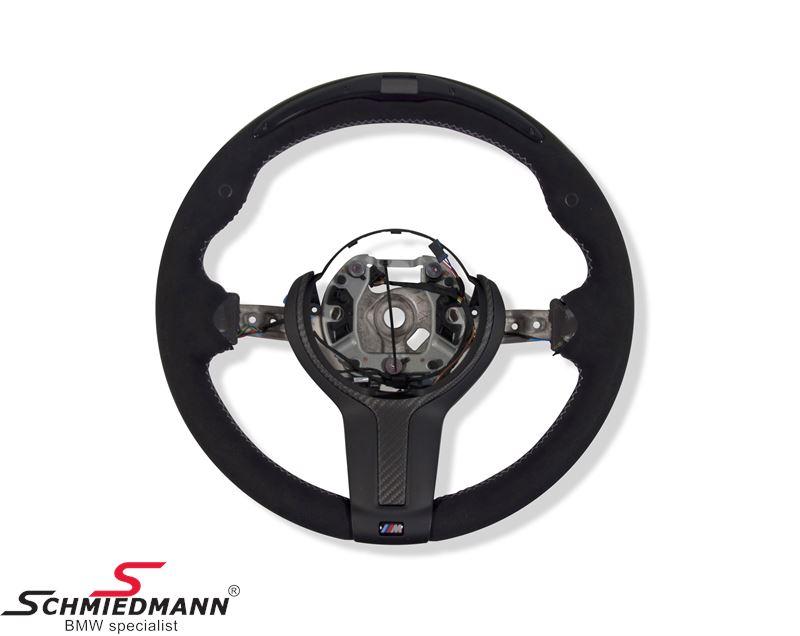 Sportsrat alcantara/carbon med display - original BMW ///M-performance (Airbag medfølger ikke)
