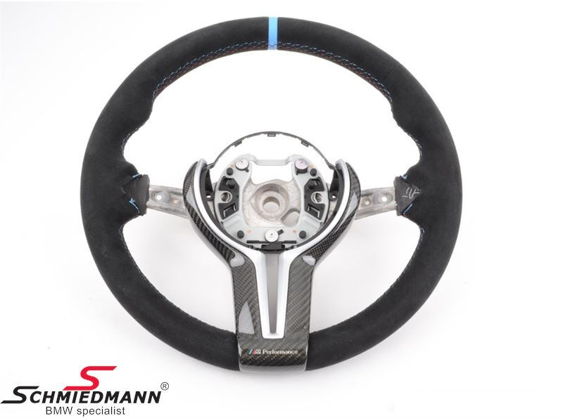 Sportsrat alcantara/carbon - original BMW ///M-performance (Airbag og knapper medfølger ikke)