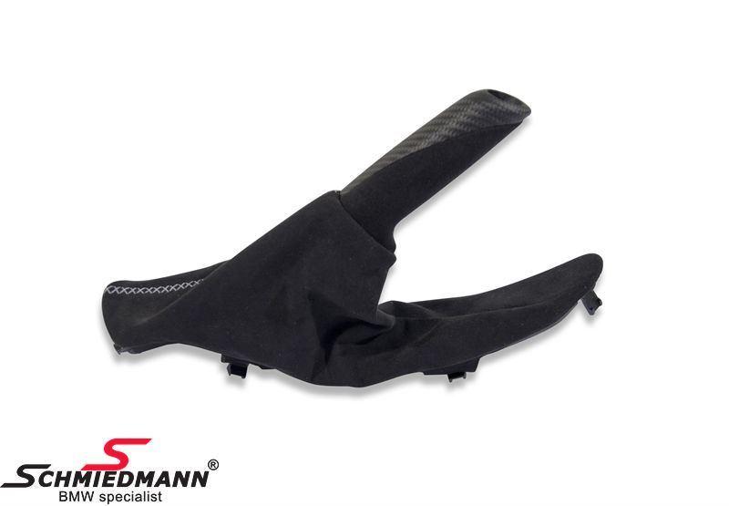 Håndbremsegreb komplet med manchette alcantara/carbon - original BMW -///M Performance-