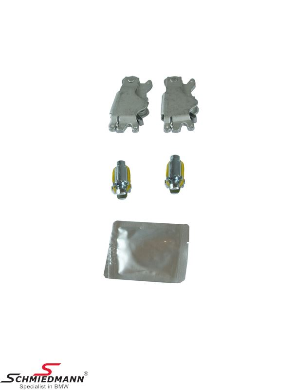 Handbrake expanding locks+adjustment screws set for handbrake shoes - Schmiedmann set