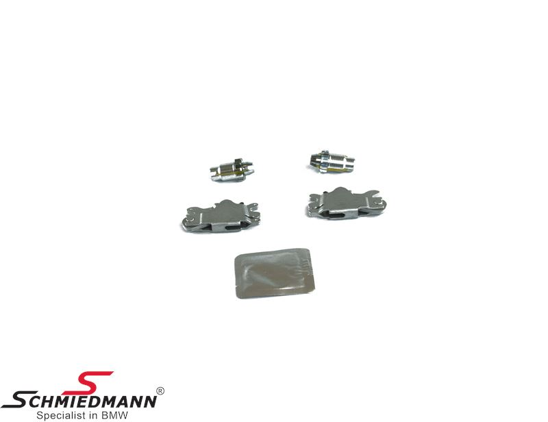 Adjustment screws+handbrake expanding locks set for handbrake shoes - Schmiedmann set