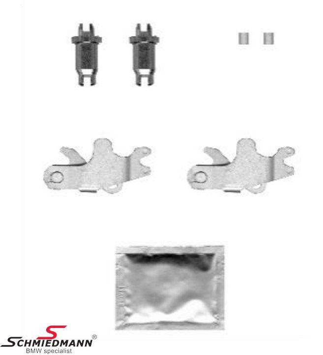 Justérskruer+håndbremse-aktivator låse sæt til håndbremsebakkerne - Schmiedmann sæt