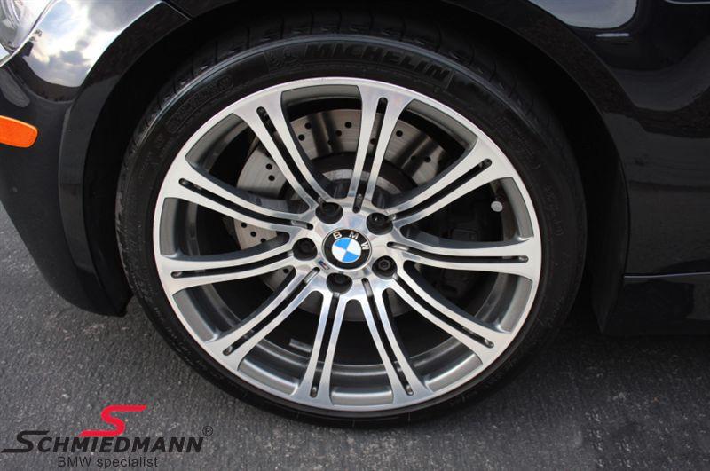 """19"""" M3 M-Doppelspeiche 220 fælge 9,5X19 smedet poleret (original BMW)(passer kun bag)"""