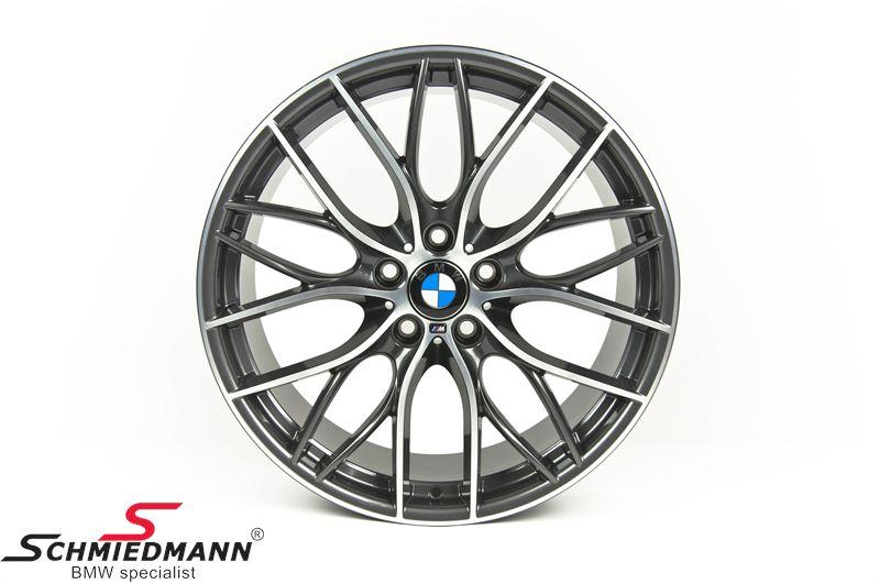 """20"""" M-Doppelspeiche 405 Glanzgedreht, fælg 8.5X20 ET47 (original BMW passer kun bag)"""