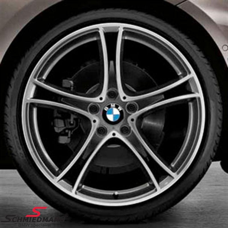 """20"""" M-Doppelspeiche 361 glanzgedreht, fælg 8.5X20 (original BMW passer kun bag)"""