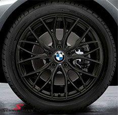"""18"""" M-Doppelspeiche 405 schwarz matt, fælg 8X18 (original BMW)"""