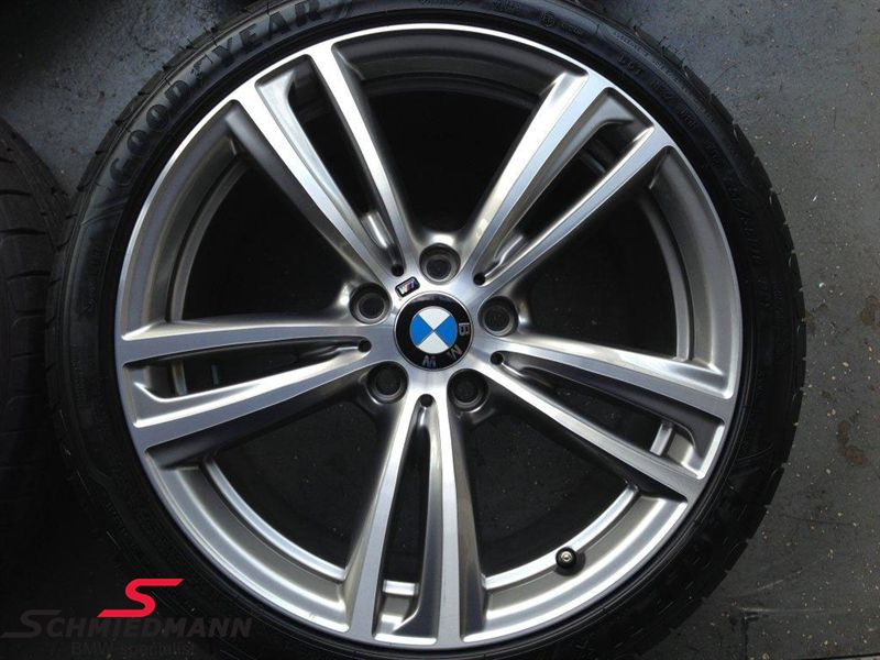 """19"""" M-Doppelspeiche 442 glanzgedreht, fælg 8X19 (original BMW)"""