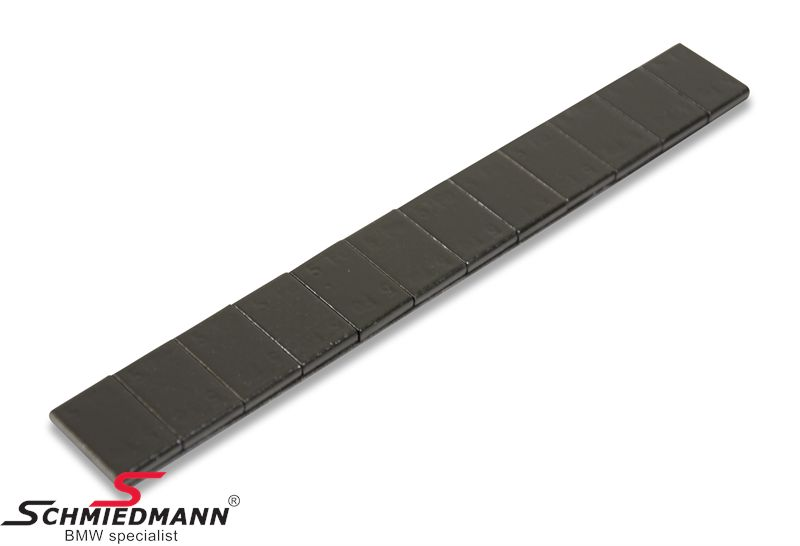 Afbalancerings-vægtklodser sorte 100 stk. kasse, 5gr. i baner af 60gr. selvklæbende