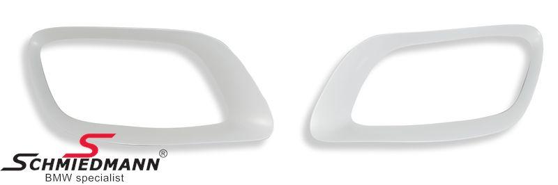 Bagkofanger indsatser til original rørhale sæt krom i V8 optik