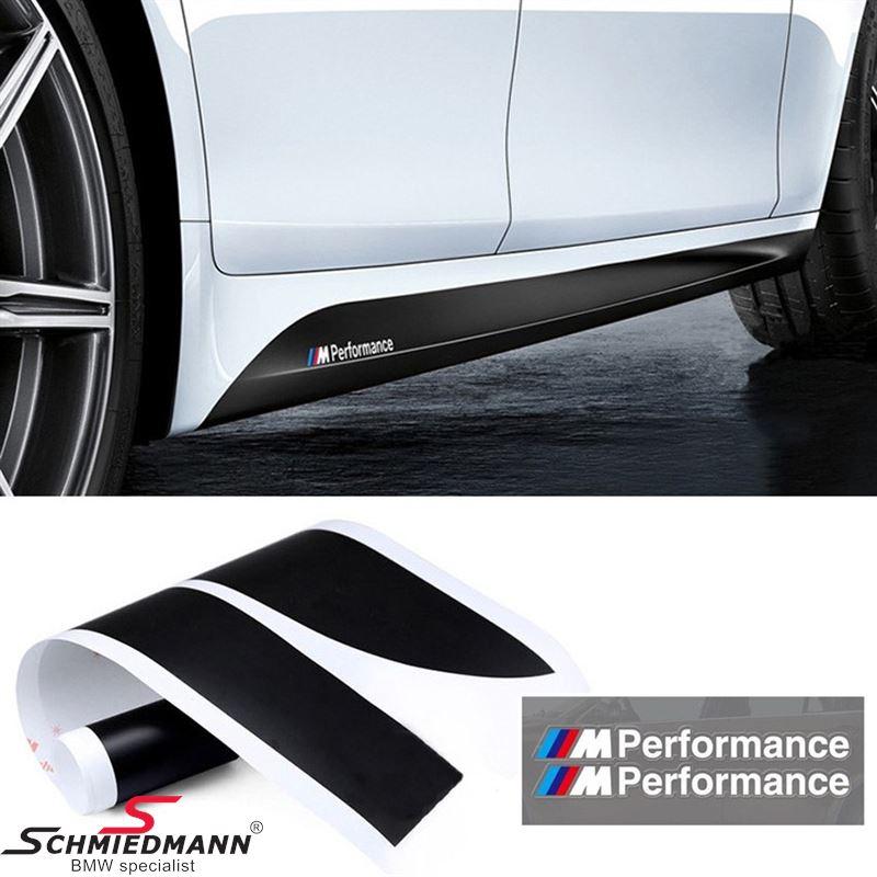 Folie-sæt (til begge sider) til original BMW -M///Performance- sideskørte-påsatser