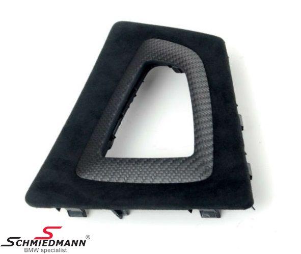 Alcantara/carbon afdækning til gearvælgeren -/// M-Performance-