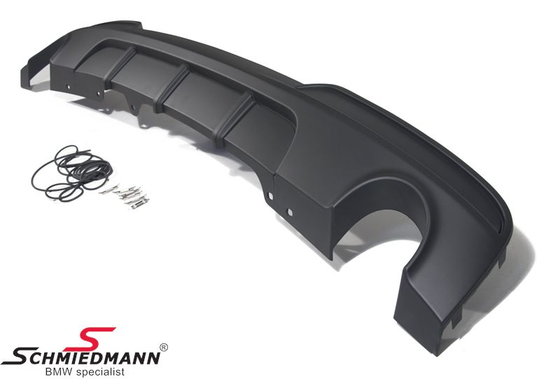 Hækskørte-indsats/diffussor -BMW Performance- til M-Technic/M-Aerodynamic hækskørte