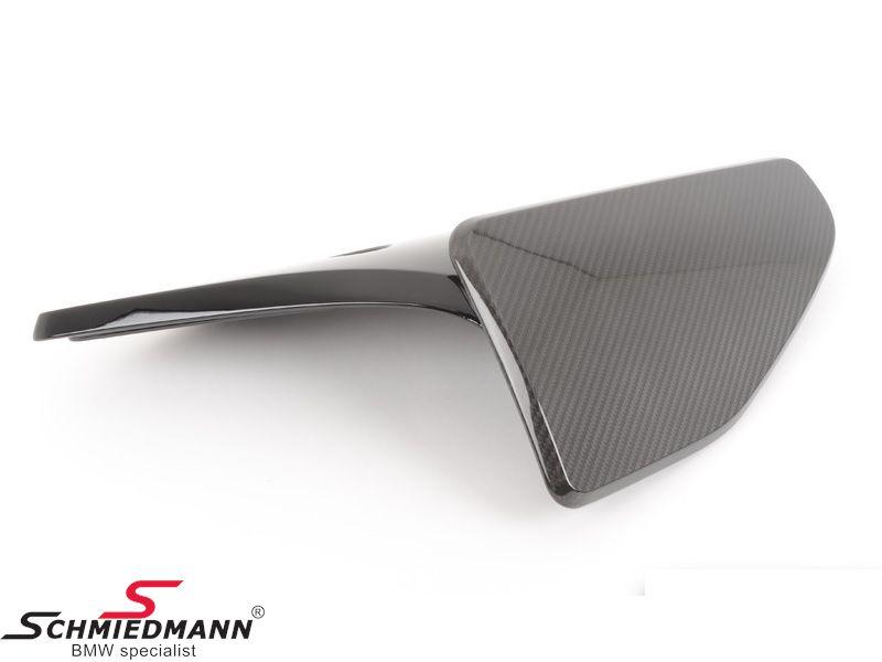 Hækskørte spoiler-flap carbon -BMW ///M Performance- til M-Technic/M-Aerodynamic hækskørte V.-side