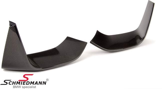 Frontspoilerlæbe sæt ægte carbon til frontspoileren, original BMW -///M-Performance-