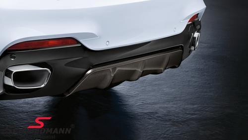 Rear diffuser carbon -BMW ///M-Performance- for M-Technic rearskirt/M-Aerodynamic rear bumper