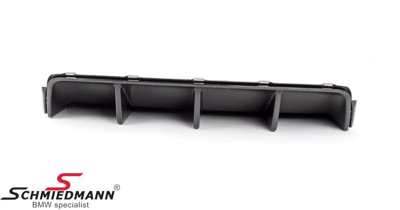 Hækskørte-indsats carbon/diffusor -///M-Performance-  til hækskørtet, original BMW