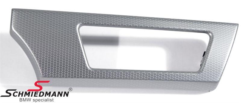 INTERIØRLISTE GLACIERSILBER E90/E91 INSTRUMENTBORD ÅRG.-09/07 V.-SIDE