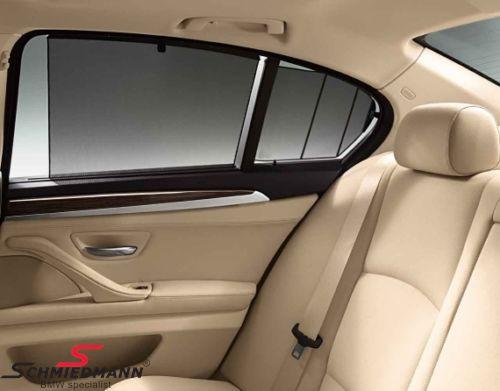 Solafskærmning originalt BMW til sideruderne i bagdørene, sæt til begge sider