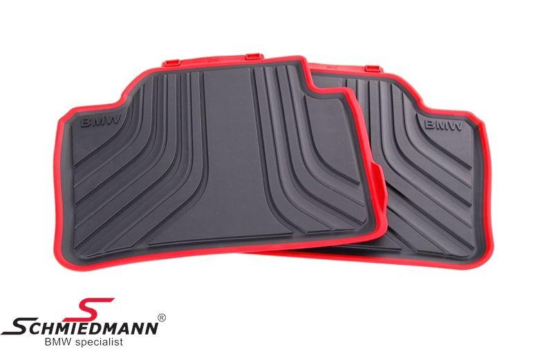 "Bundmåtter -Sport- ""All weather"" bag, sort/rød - original BMW"