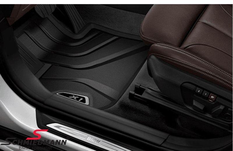 """Bundmåtter """"All weather"""" for, sort/sølv - original BMW"""