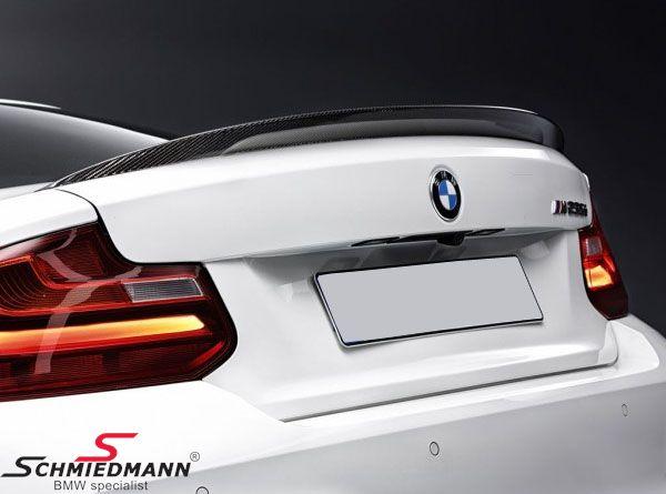 Hækspoilerlæbe -BMW ///M Performance- ægte carbon original BMW