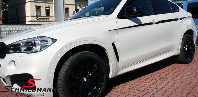 Luftindtag til forskærmen, sort højglans shadowline V.-side, original BMW -///M-Performance-