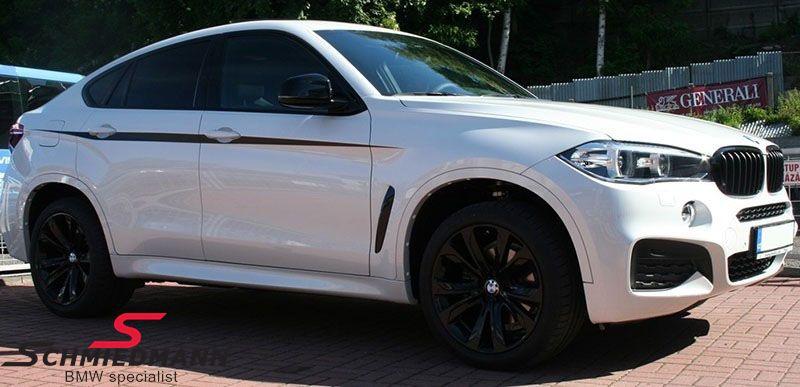 Luftindtag til forskærmen, sort højglans shadowline H.-side, original BMW -///M-Performance-