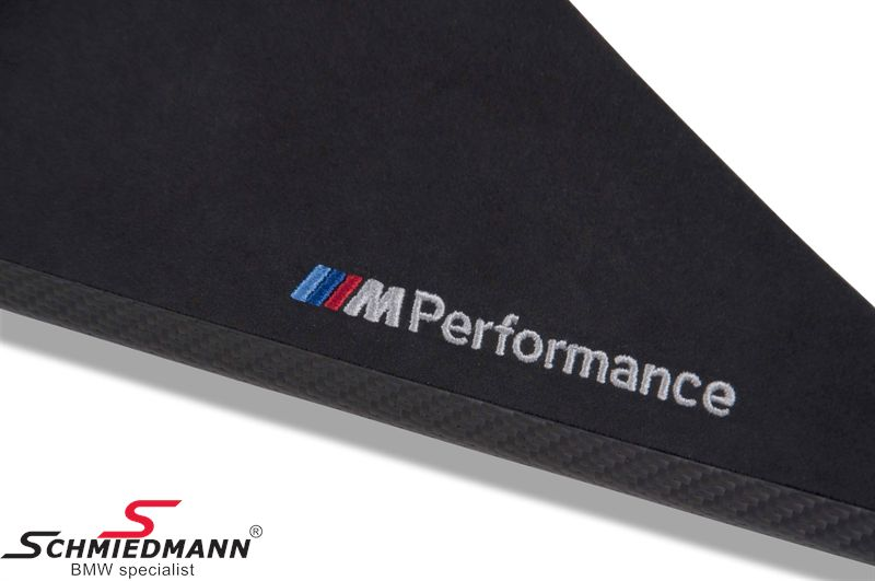 Interørliste sæt carbon/alcantara -///M-Performance- 7 dele til døre/midterkonsol og instrumentbord