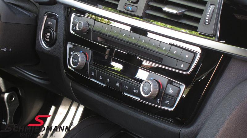 Afdækning til klima betjeningspanel højglans sort, belyst - original BMW