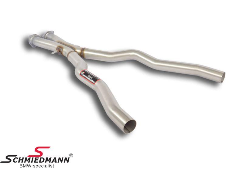 X-rør mellempotte erstatning Supersprint - fra katalysator til bagpotter (Forstærker racing-lyden)