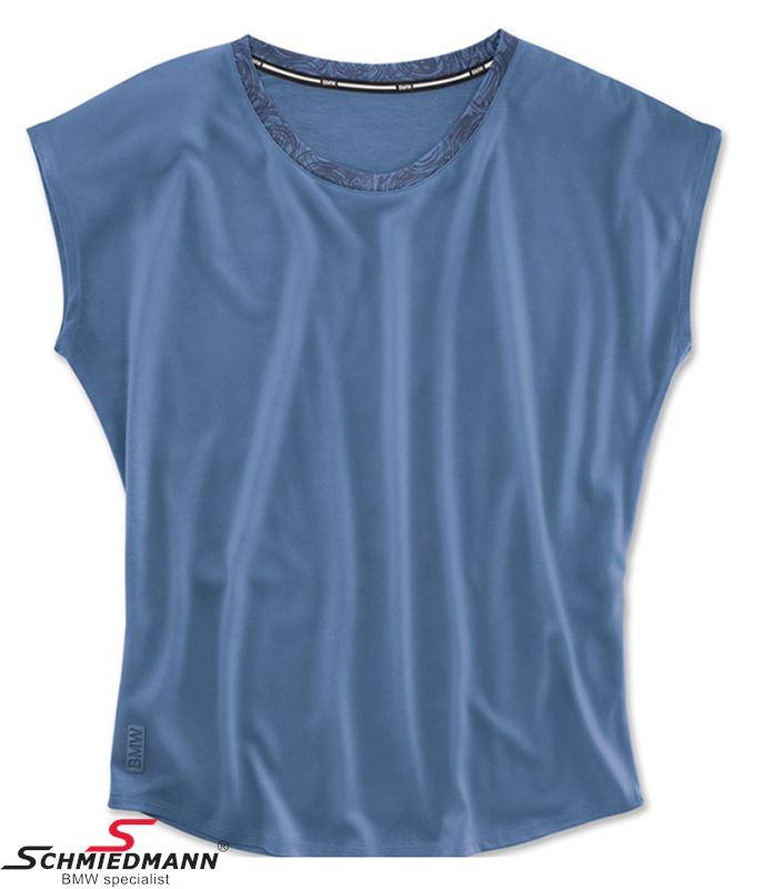 T-shirt -BMW Active- blå, dame funktionel str. L