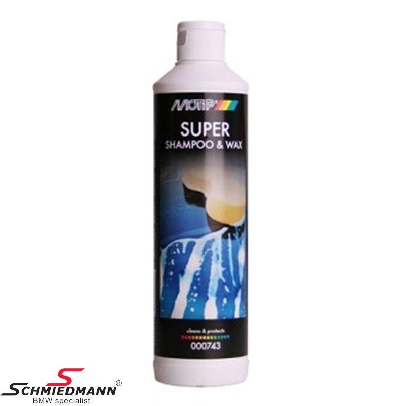 Motip super shampoo & wax 500ML. flaske