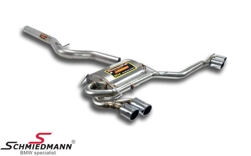 4 Rørsudstødning H.+V.-side rustfrit stål Supersprint -Power Loop- med 4XØ80MM rørhaler