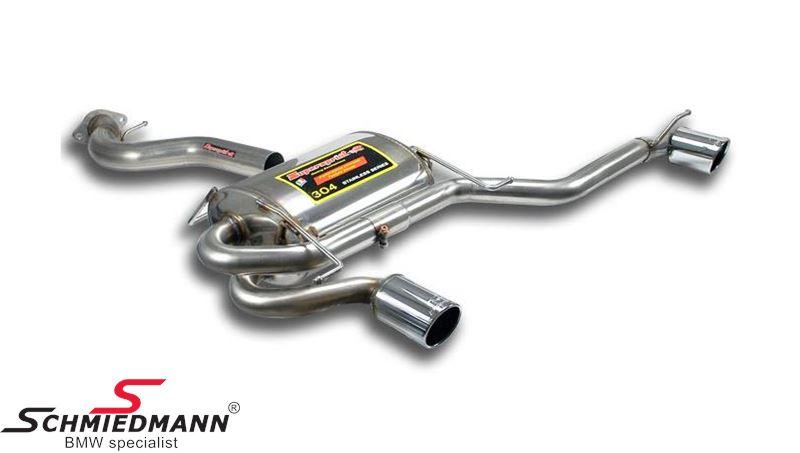 2 Rørsudstødning H.+V.-side rustfrit stål Supersprint -Power Loop- med 2 X Ø90MM rørhaler