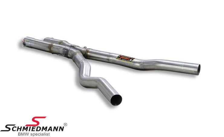 X-rør mellempotte erstatning Supersprint - fra katalysator til bagpotte (Forstærker racing-lyden)