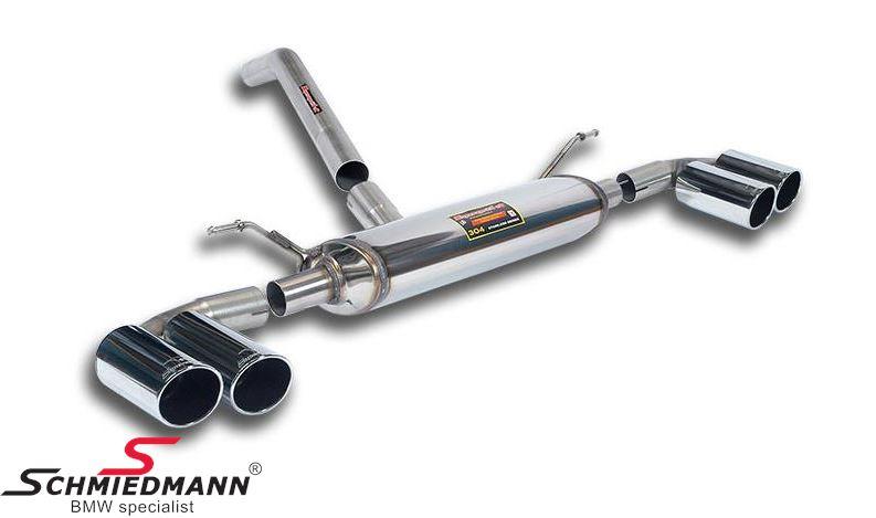 4 Rørsudstødning Supersprint H.+V.-side rustfrit stål med 4 X Ø80MM rørhaler