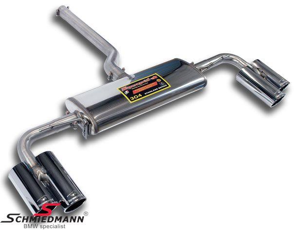 4 Rørsudstødning Supersprint H.+V.-side rustfrit stål med 4 X Ø90MM rørhaler