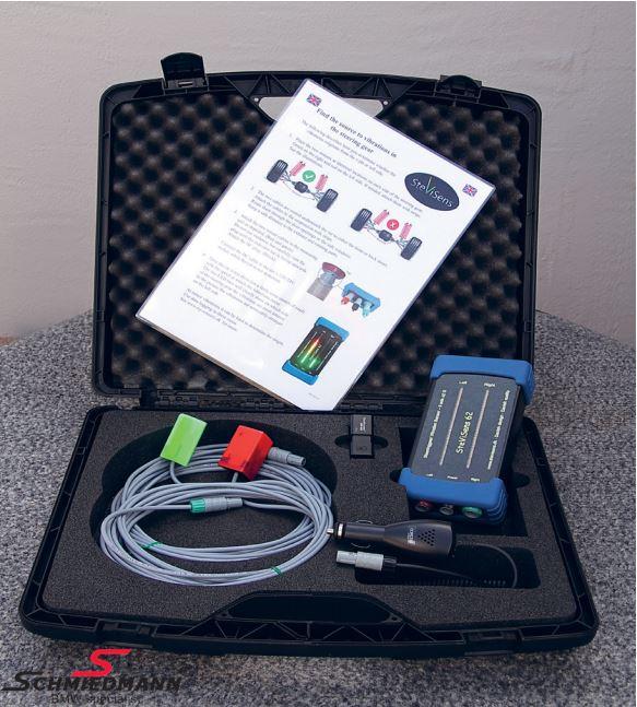 Stevisens Pro 62 vibrationsmåler med 4 sensorer og software - Måleværktøj til lokalisering af vibrationer fra undervogn