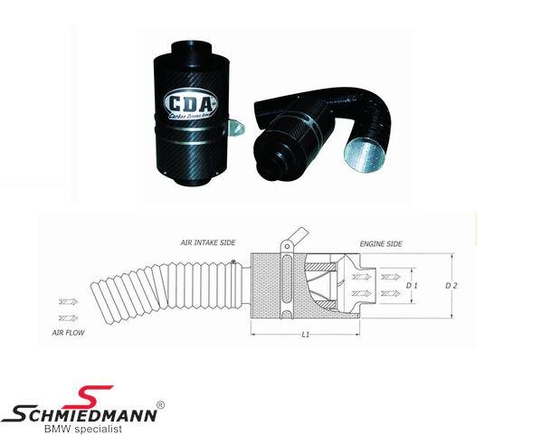 BMC Carbon dynamics airbox, universal D1:82mm D2:150mm L:200mm