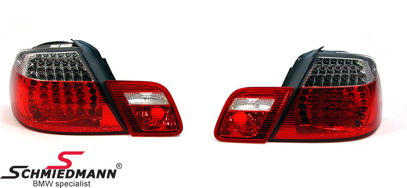 Taillights LED red/white 2003 facelift upgrade in original-design