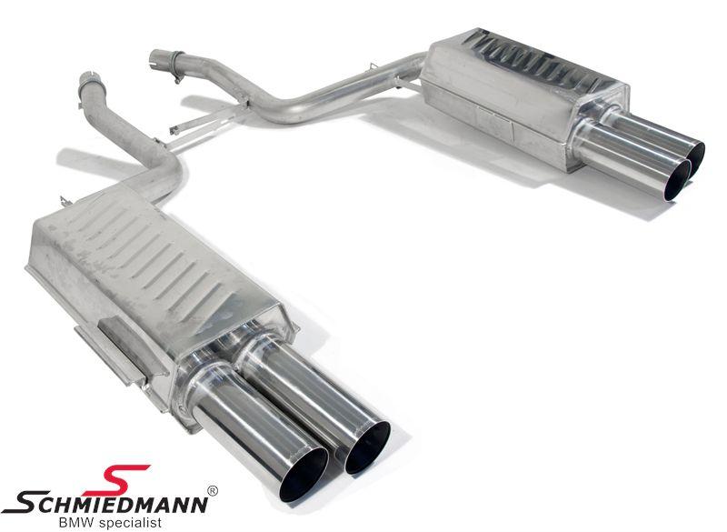 4 rør Eisenmann sportsudstødning i 750I look 4XØ83MM -Race Sound- uden Tüv