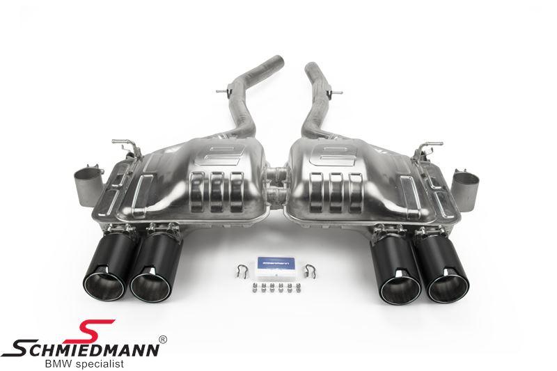 Eisenmann sportsbagpotte med sort krom/børstet aluminium rørhaler 4XØ90MM