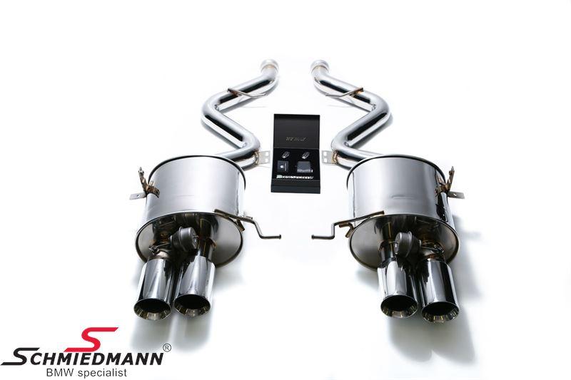 Armytrix valvetronic sportsudstødning, rustfri cat-back system, 4X89MM krom afgange